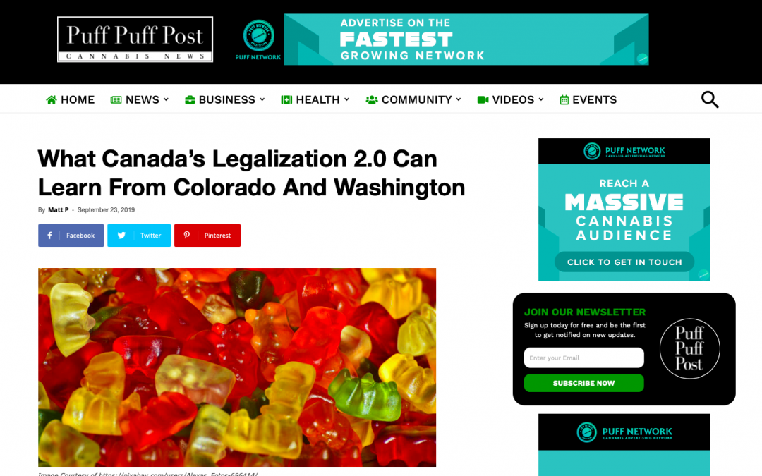 What Canada's Legalization 2.0 Can Learn From Colorado And Washington