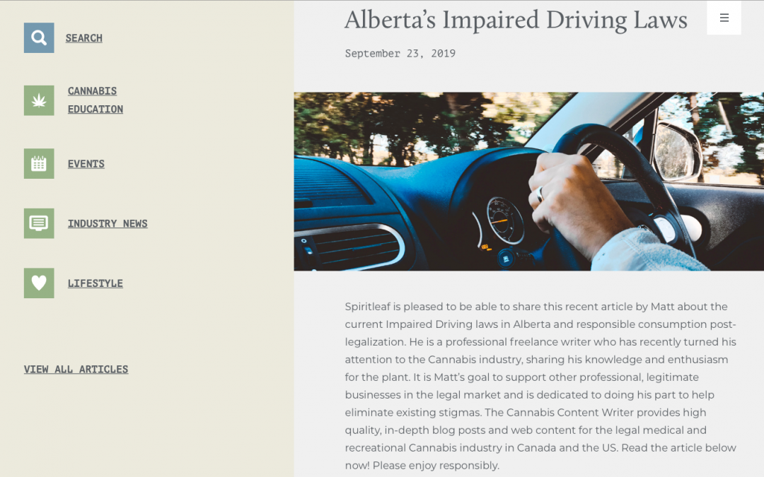 Alberta's Impaired Driving Laws