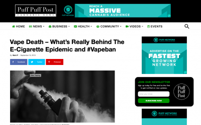 Vape Death – What's Really Behind The E-Cigarette Epidemic And #Vapeban